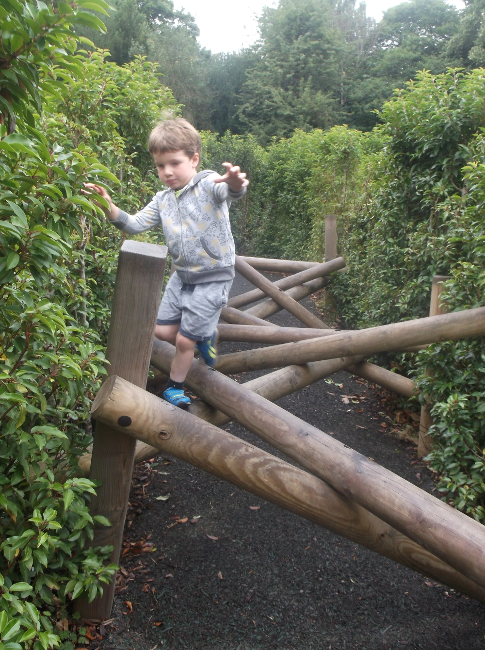 Picture of Noah navigating the 'Horrible Histories' maze